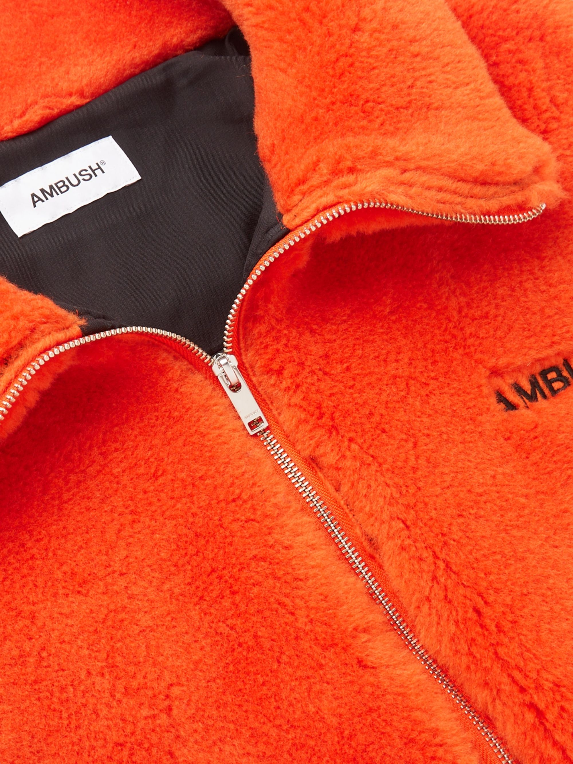 AMBUSH® Logo-Embroidered Wool-Fleece Jacket
