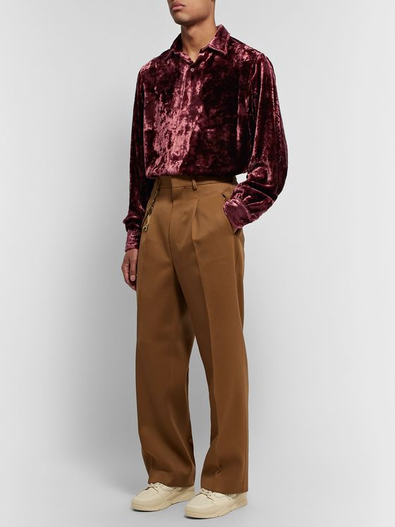AMI Crushed-Velvet Shirt