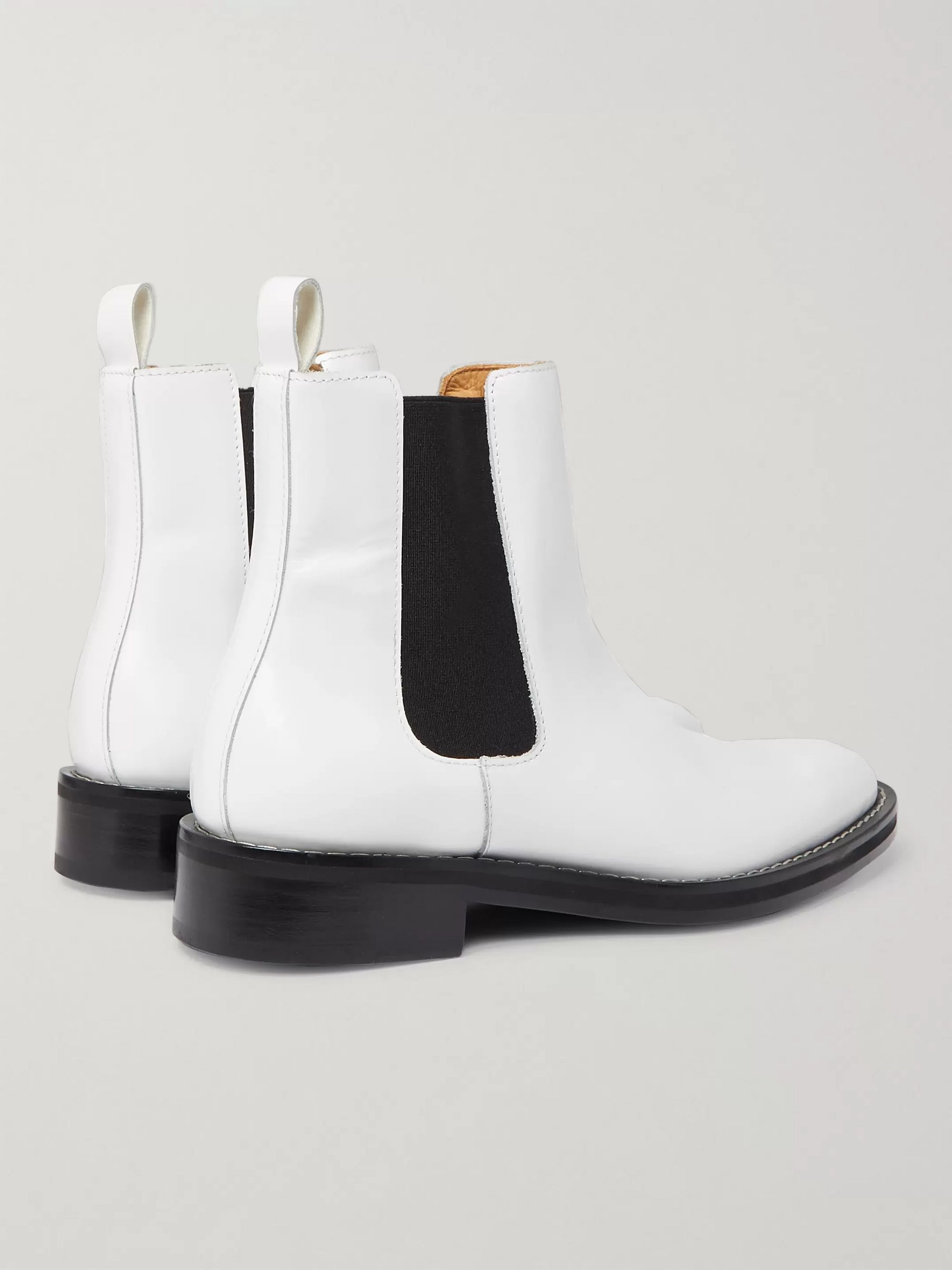 AMI Leather Chelsea Boots