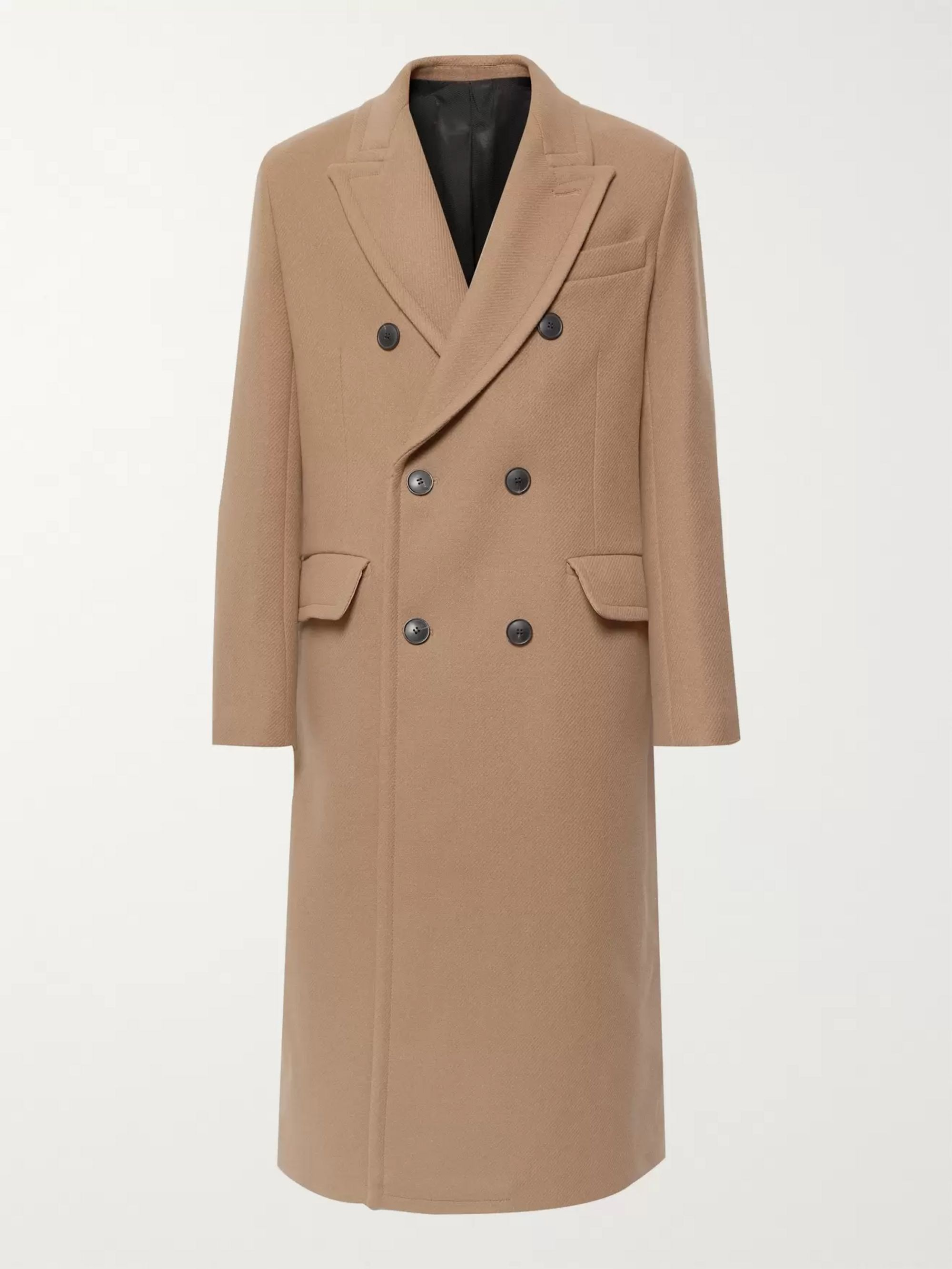 Double Breasted Wool Blend Overcoat by Ami