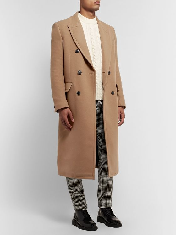 AMI Double-Breasted Wool-Blend Overcoat