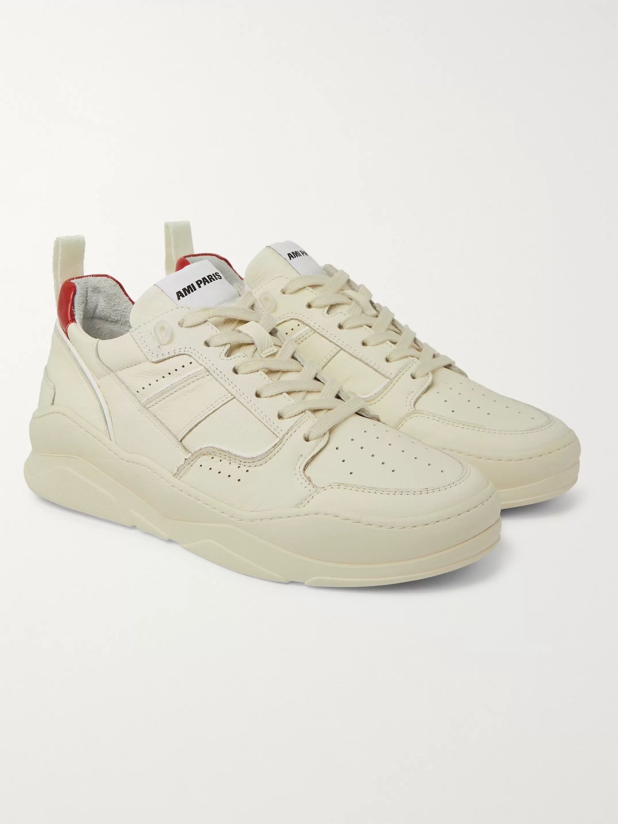 AMI Leather Sneakers