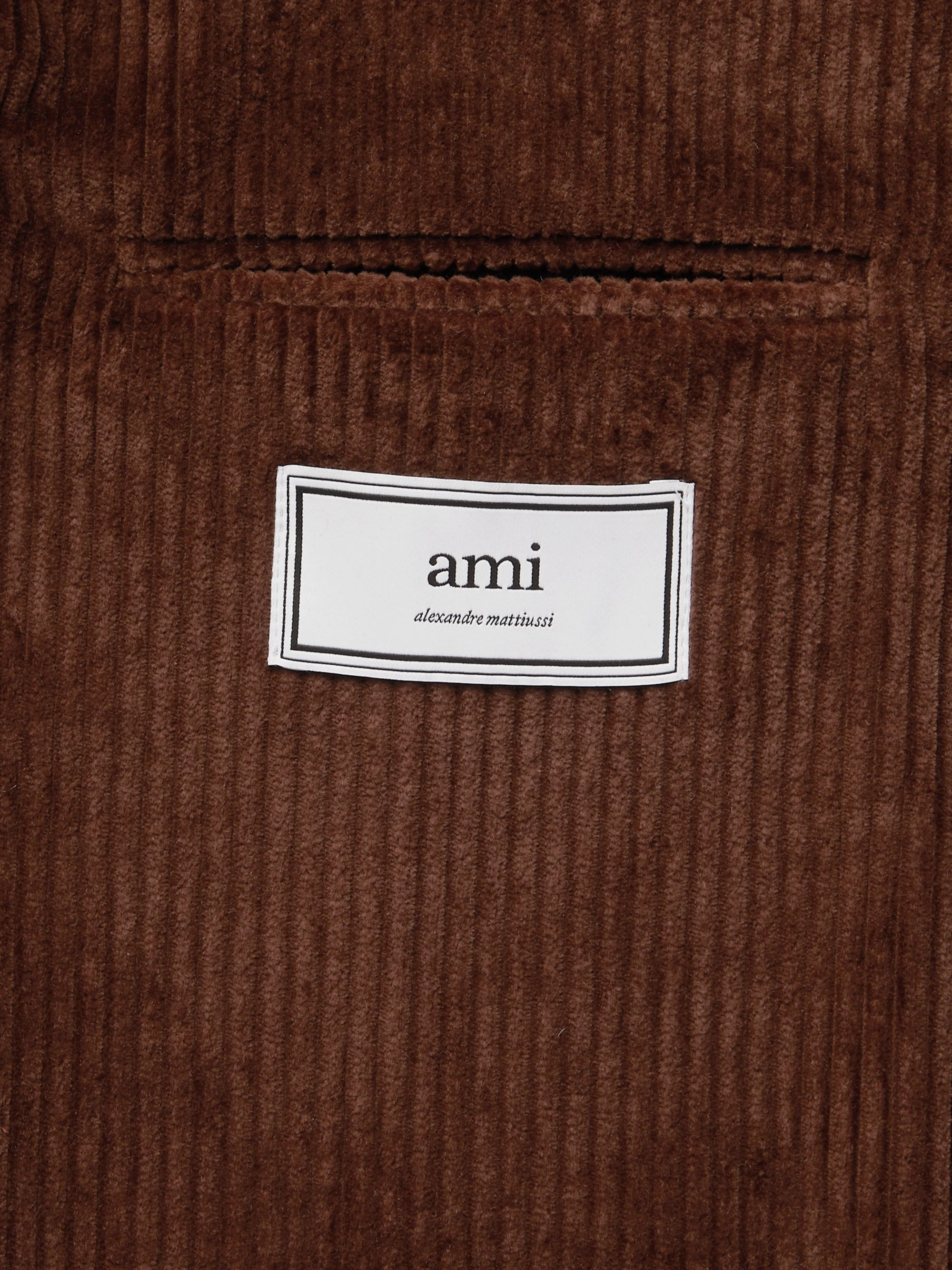 AMI Green Cotton-Corduroy Suit Jacket