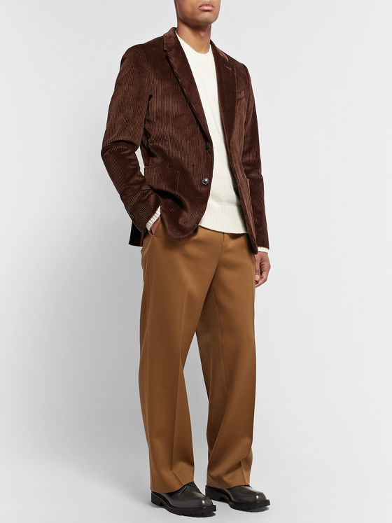 AMI Brown Cotton-Corduroy Suit Jacket