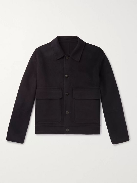 AMI Wool and Cashmere-Blend Blouson Jacket