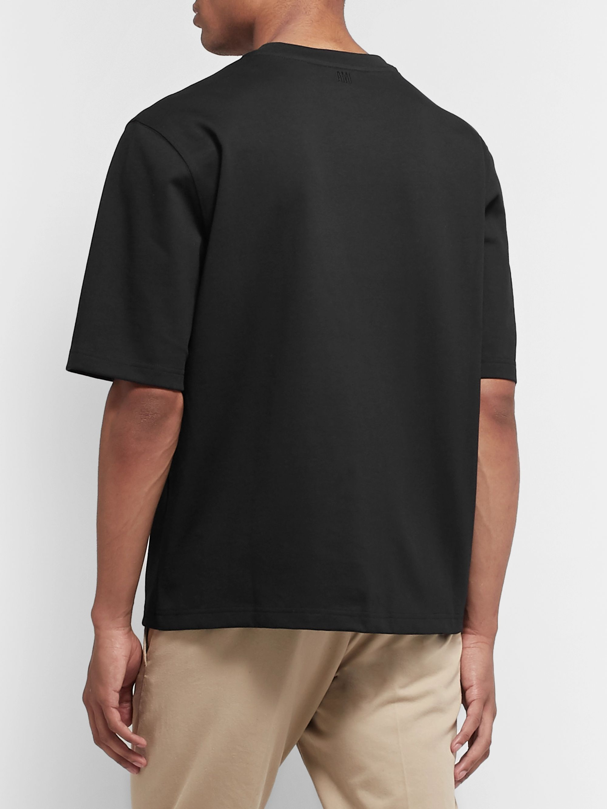 AMI Oversized Logo-Appliquéd Cotton-Jersey T-Shirt