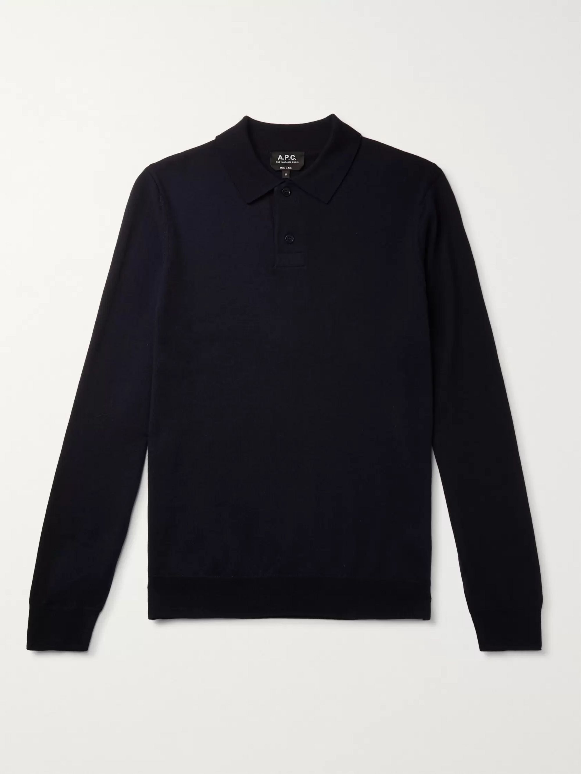 Jerry Merino Wool Polo Shirt by A.P.C.