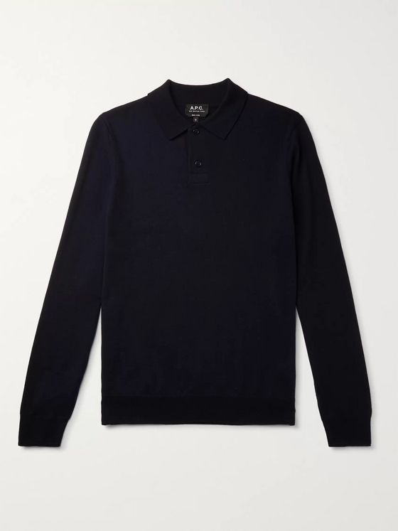 A.P.C. Jerry Merino Wool Polo Shirt