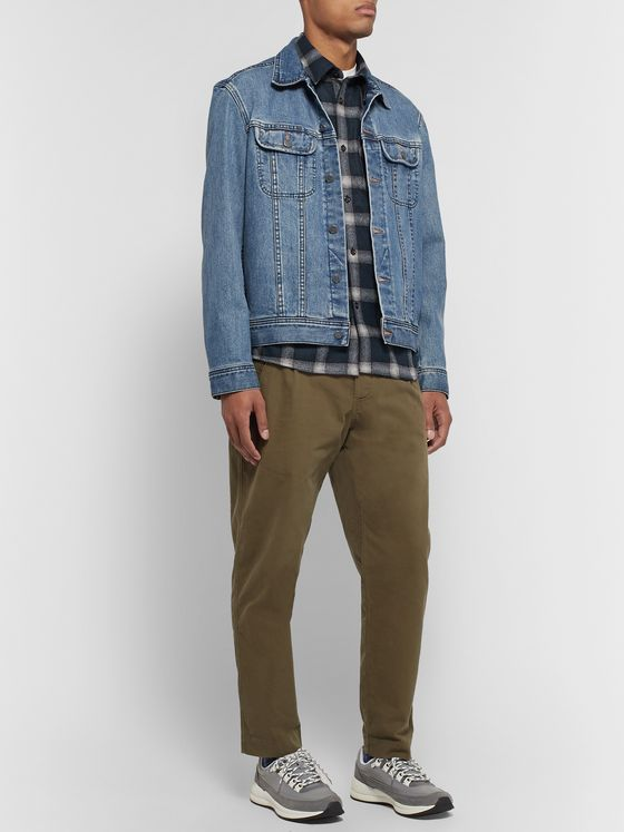 A.P.C. Trek Checked Wool-Blend Flannel Shirt
