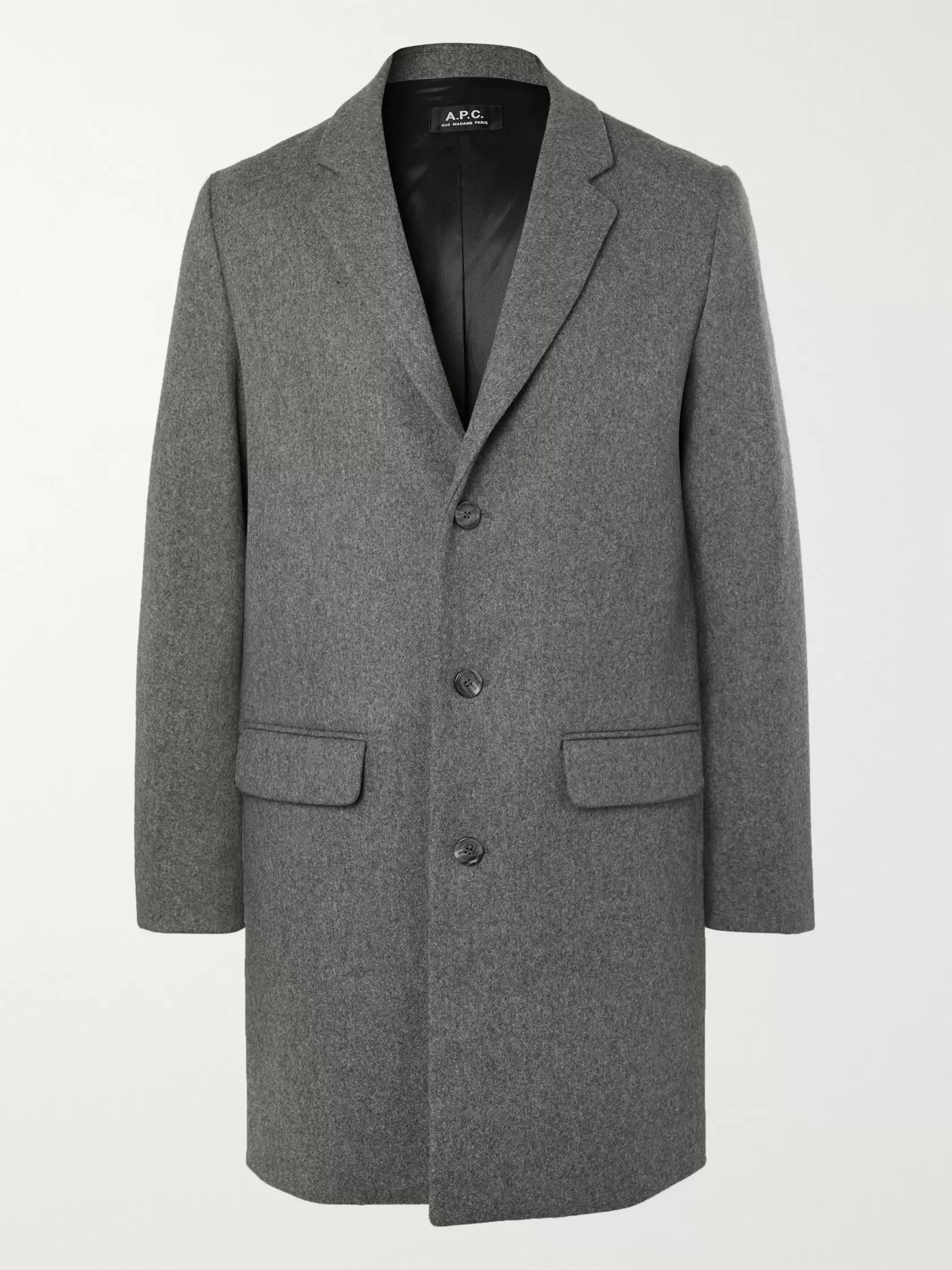 Manteau Mélange Wool Blend Overcoat by A.P.C.