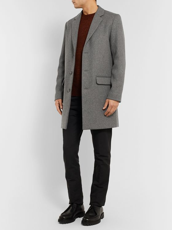 A.P.C. Manteau Mélange Wool-Blend Overcoat