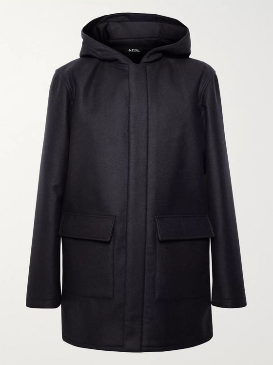 A.P.C. Ben Virgin Wool-Blend Hooded Parka