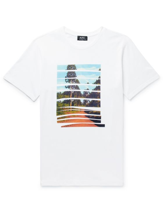 A.P.C. Terre Rouge Printed Cotton-Jersey T-Shirt