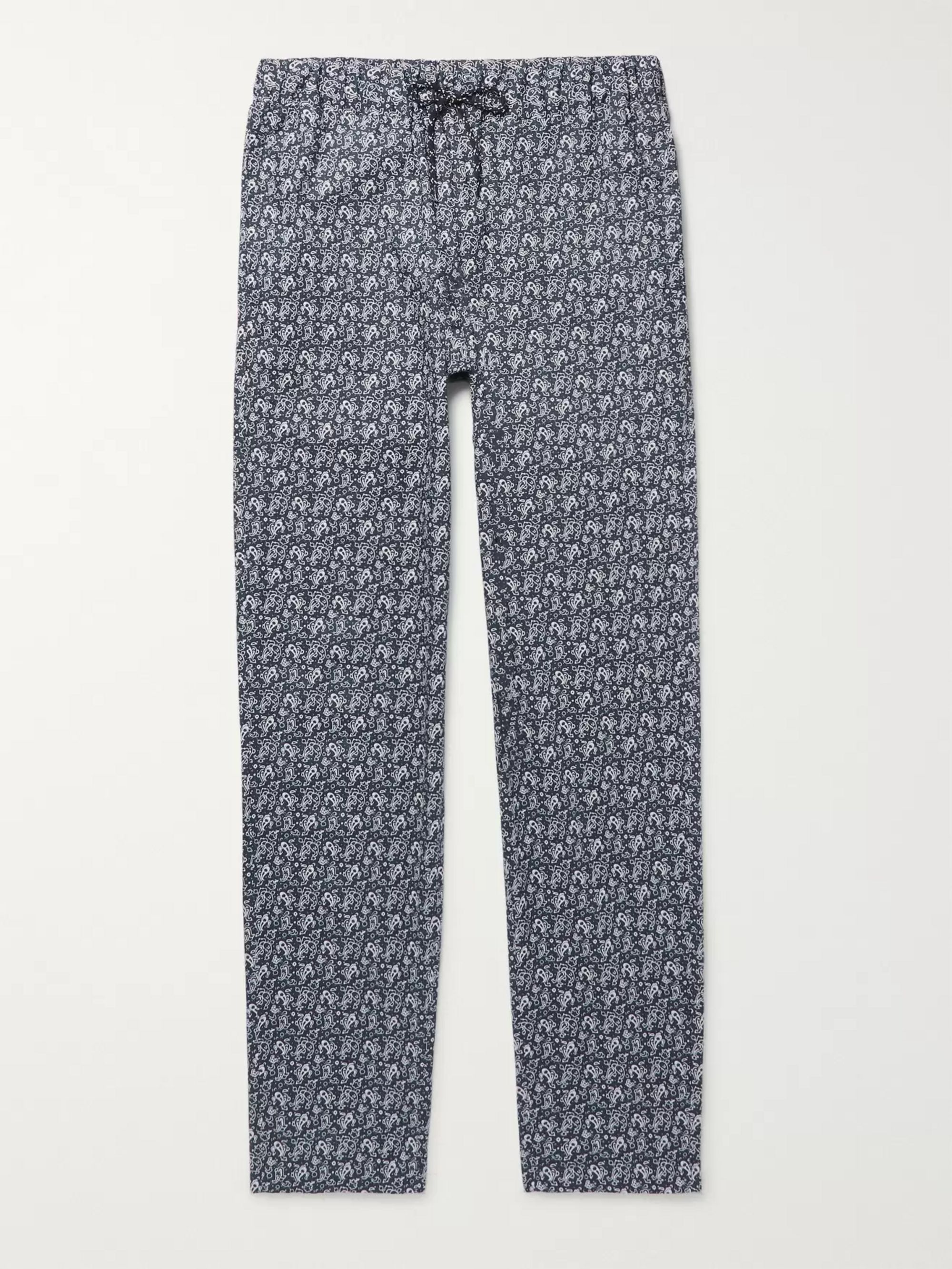 A.P.C. Kaplan Bandana-Print Cotton Drawstring Trousers