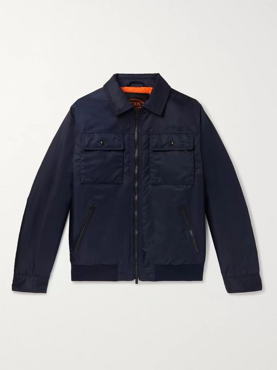 TOD'S Slim-Fit Shell Bomber Jacket
