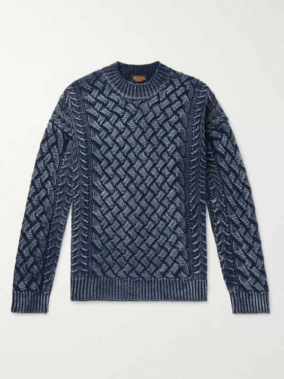 Tod's Slim-Fit Cable-Knit Merino Wool Sweater