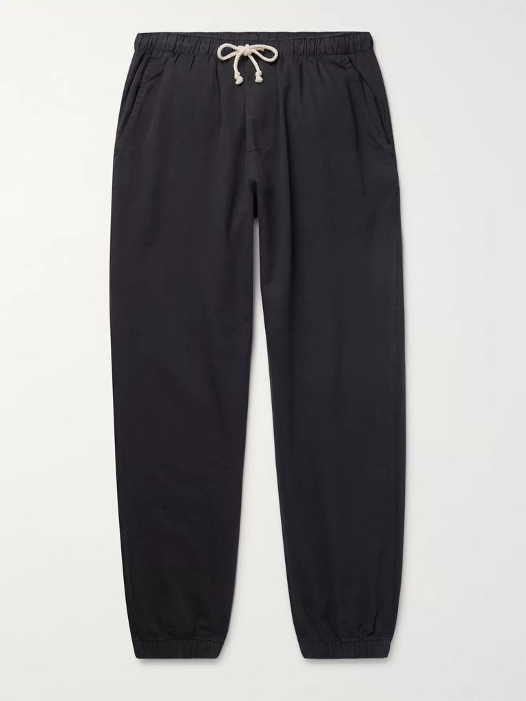 Mollusk Jeffrey Slim-Fit Tapered Cotton-Twill Drawstring Trousers