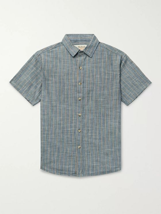 Mollusk Striped Cotton Shirt
