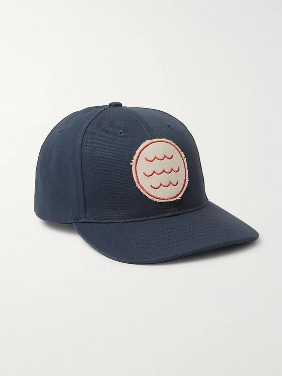 Mollusk Appliquéd Cotton-Twill Baseball Cap