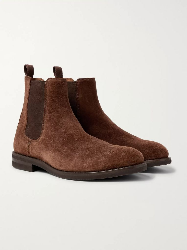 Brunello Cucinelli Suede Chelsea Boots