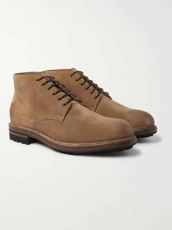 Brunello Cucinelli Shearling-Lined Suede Boots