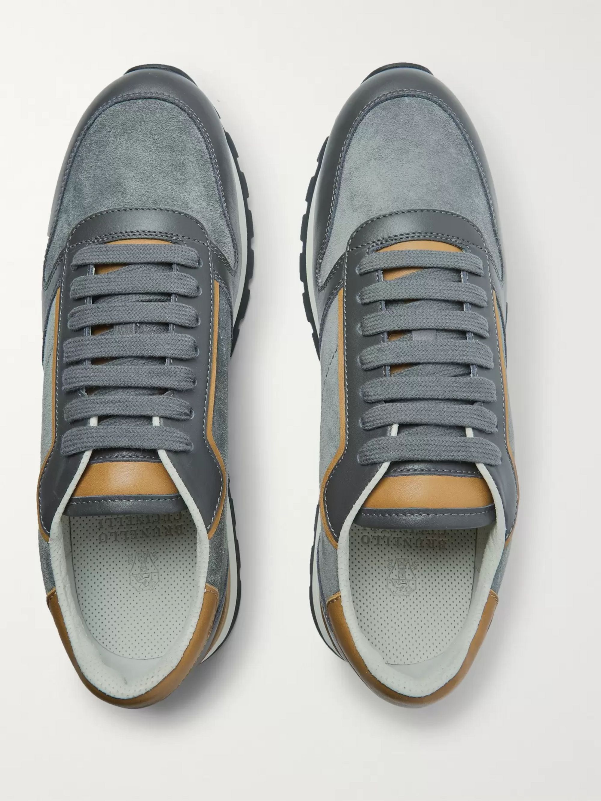 Brunello Cucinelli Suede and Leather Sneakers