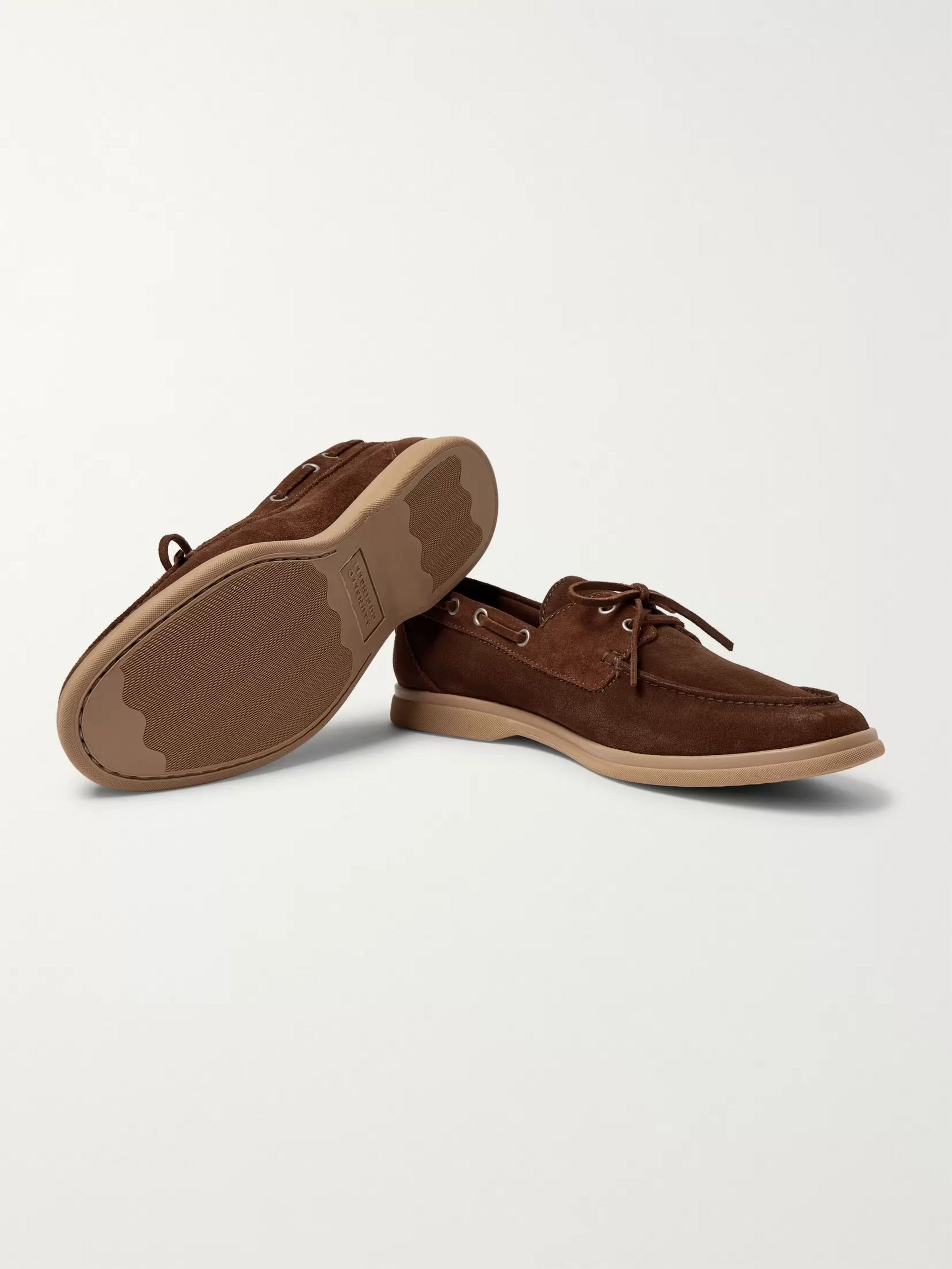 Brunello Cucinelli Suede Boat Shoes