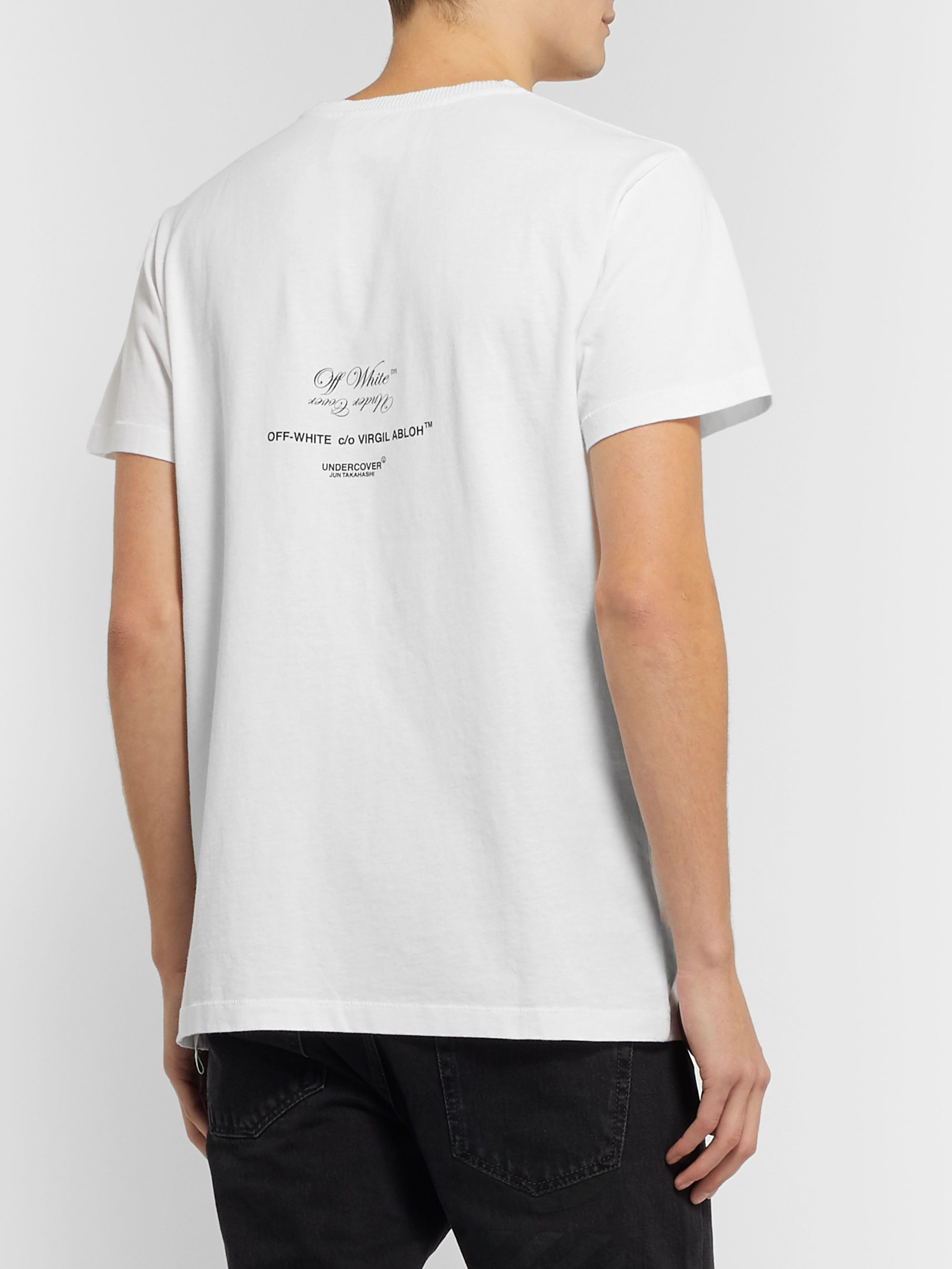 Off-White + Undercover Printed Cotton-Jersey T-Shirt