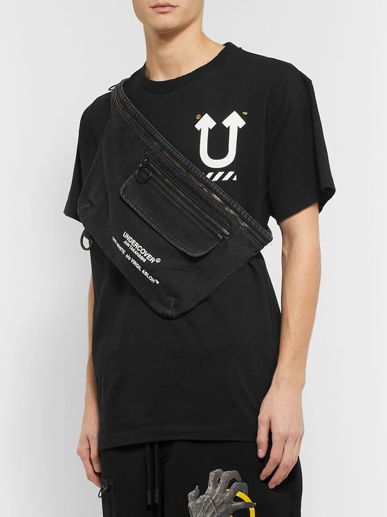 Off-White + Undercover Printed Denim Belt Bag