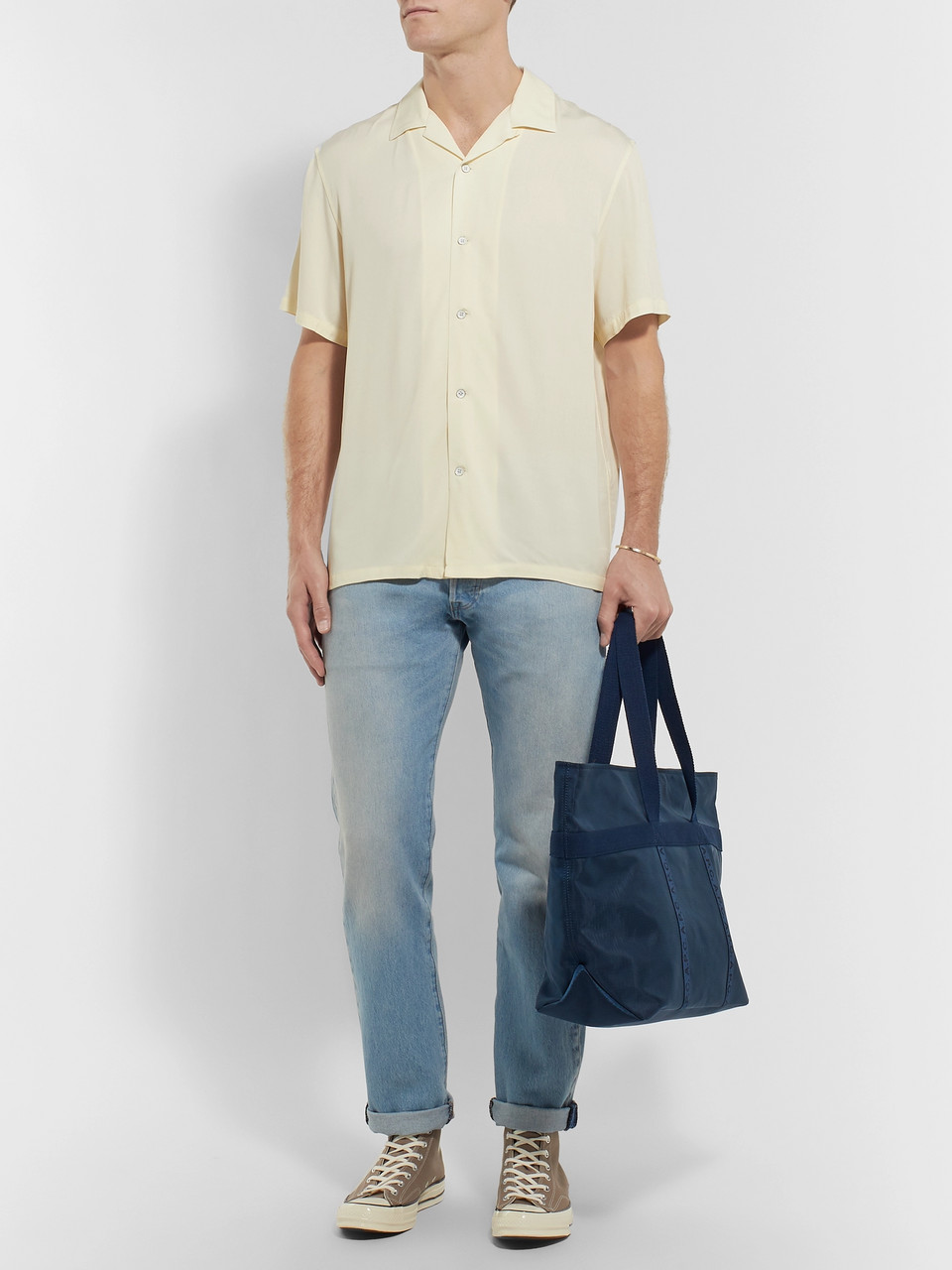 rag & bone Camp-Collar Twill Shirt