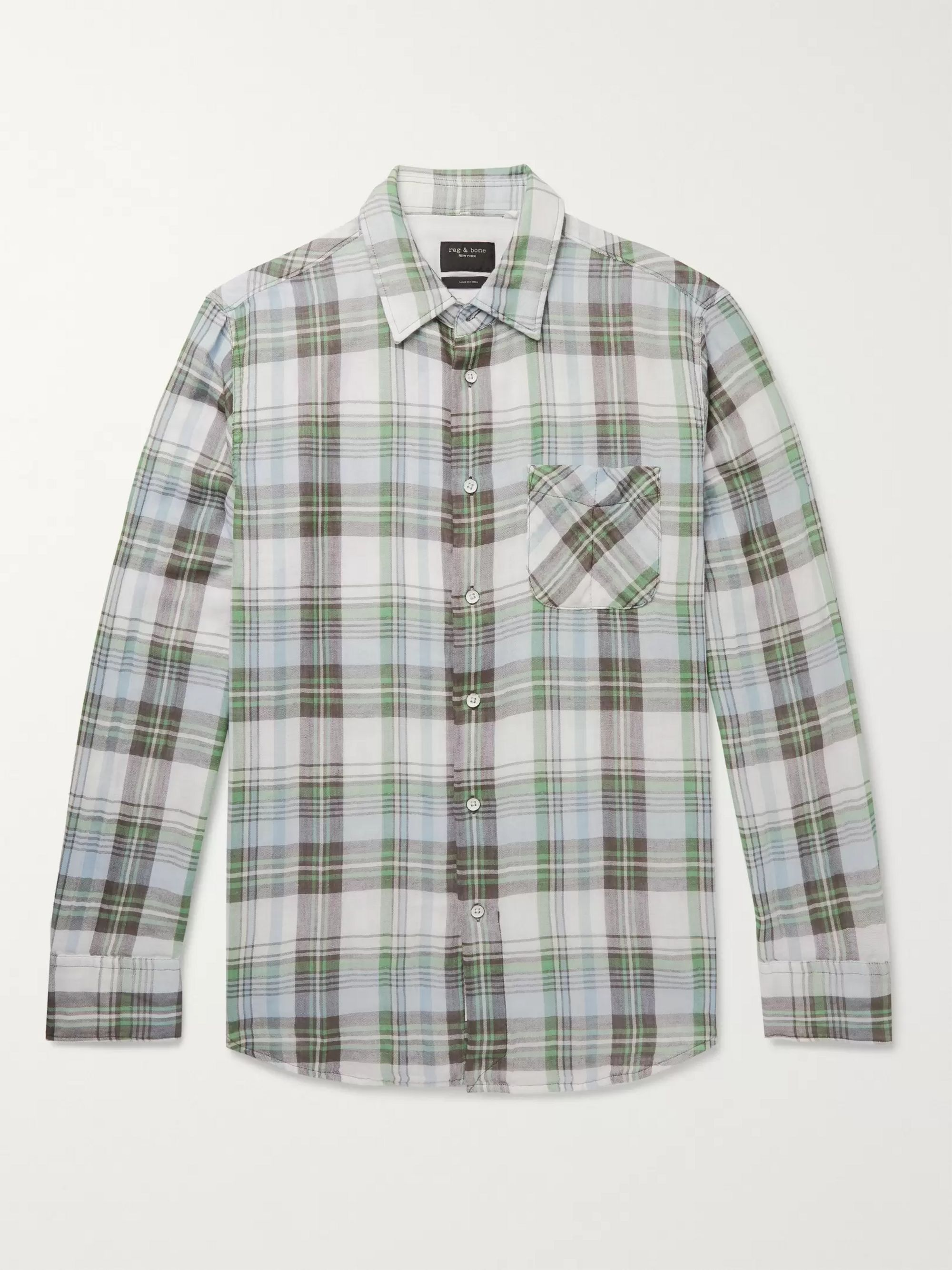 33f2422fdd Fit 3 Beach Checked Double-Faced Cotton Shirt