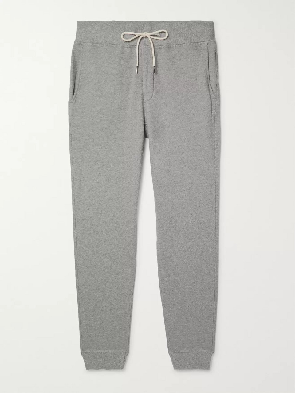 rag & bone Slim-Fit Tapered Mélange Cotton-Jersey Sweatpants