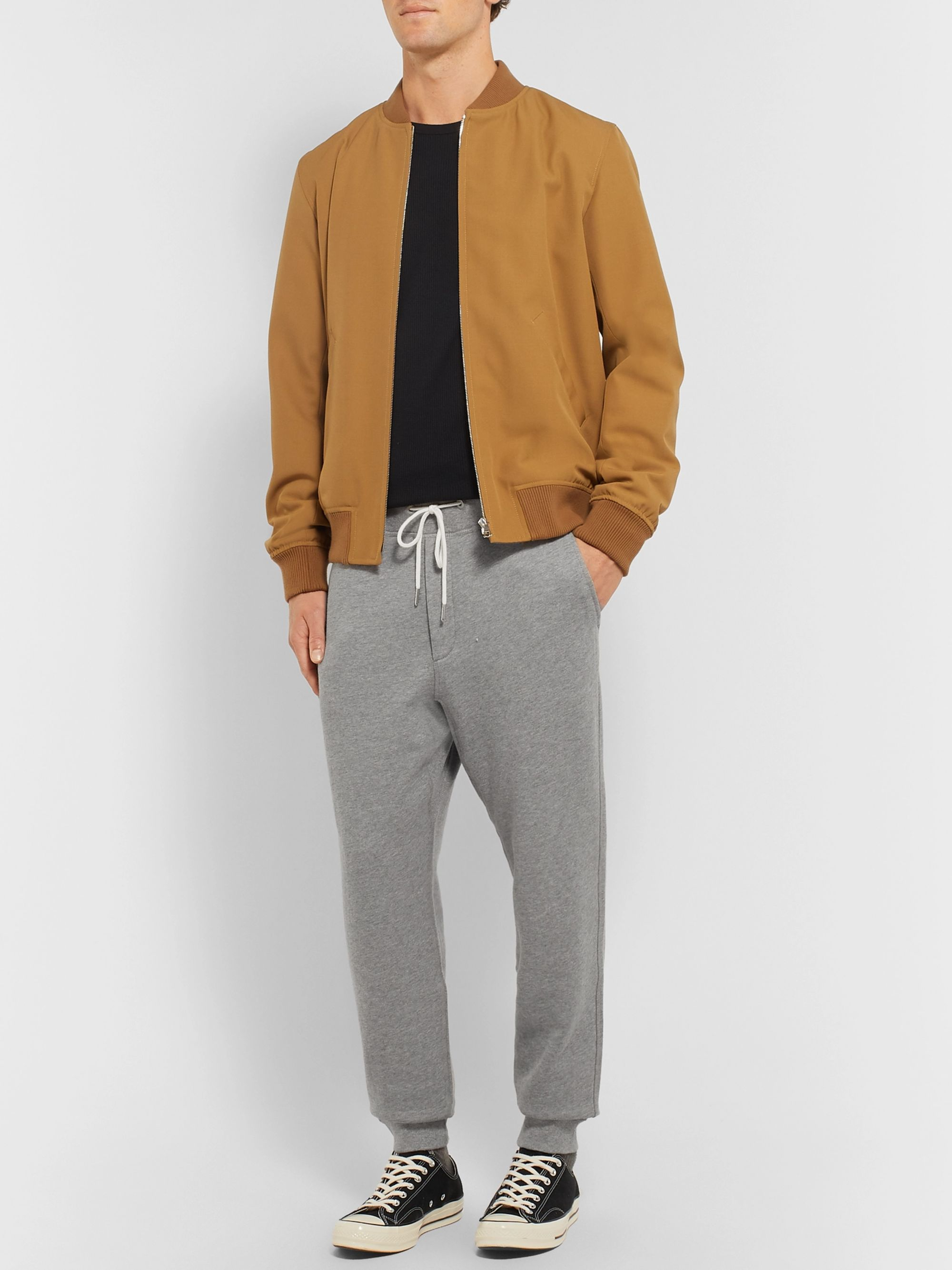 rag & bone Slim-Fit Tapered Cotton-Jersey Sweatpants