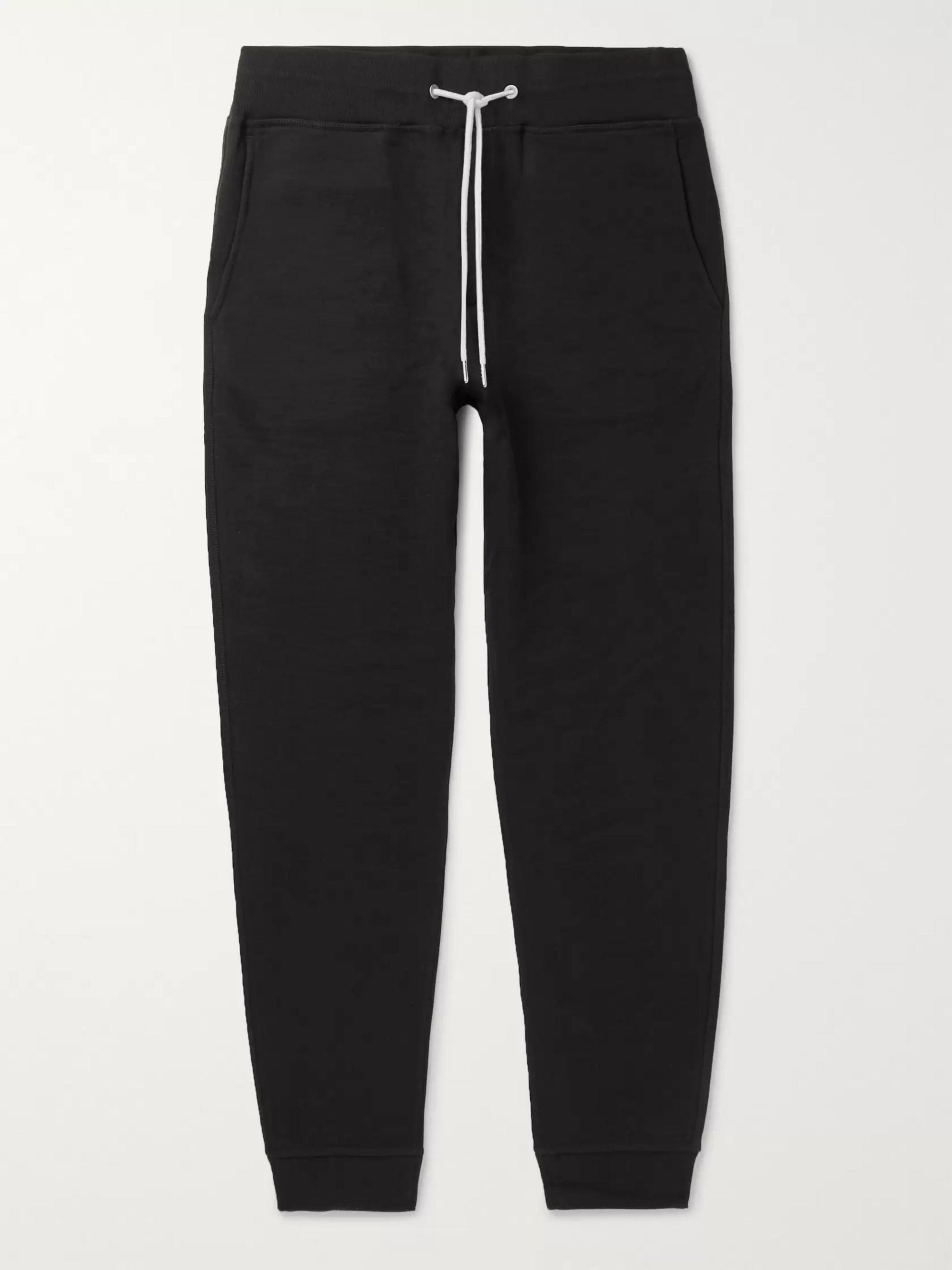 rag & bone Slim-Fit Tapered Loopback Cotton-Jersey Sweatpants