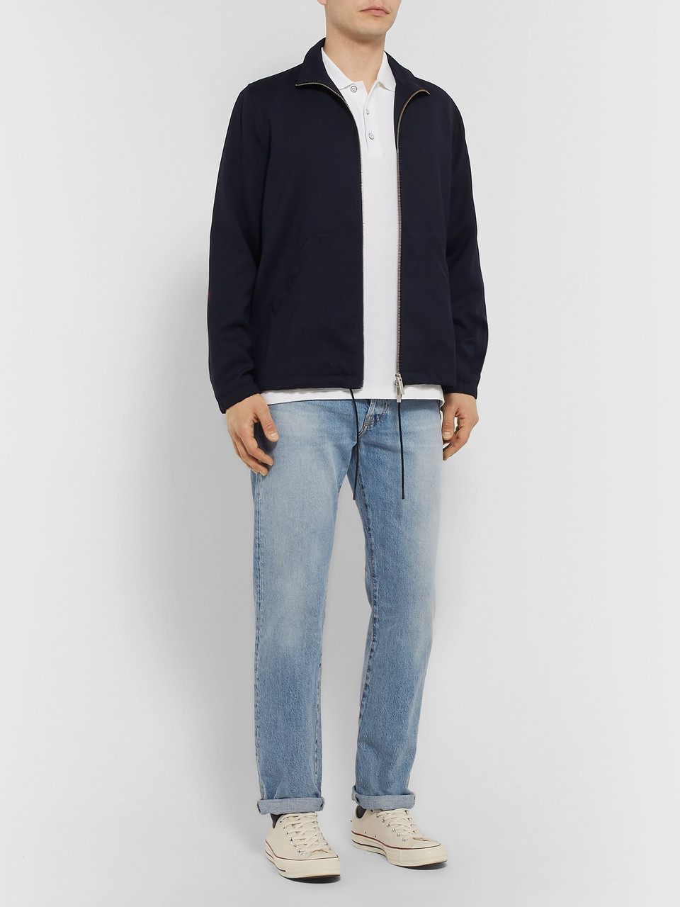 rag & bone Cotton-Piqué Polo Shirt