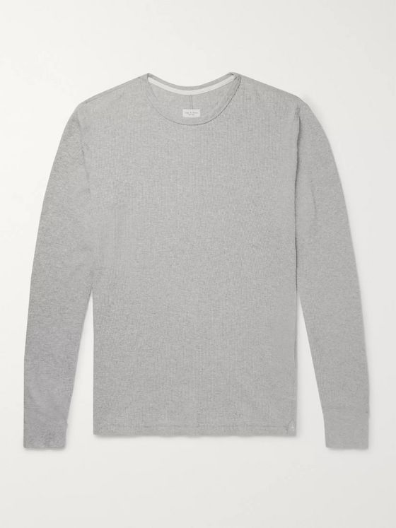 rag & bone Slim-Fit Waffle-Knit Mélange Cotton T-Shirt