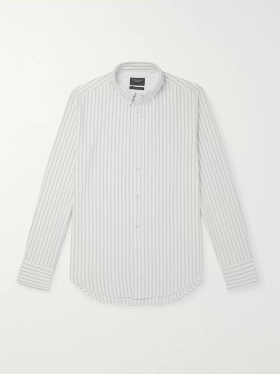 rag & bone Fit 2 Tomlin Slim-Fit Button-Down Collar Striped Cotton Oxford Shirt