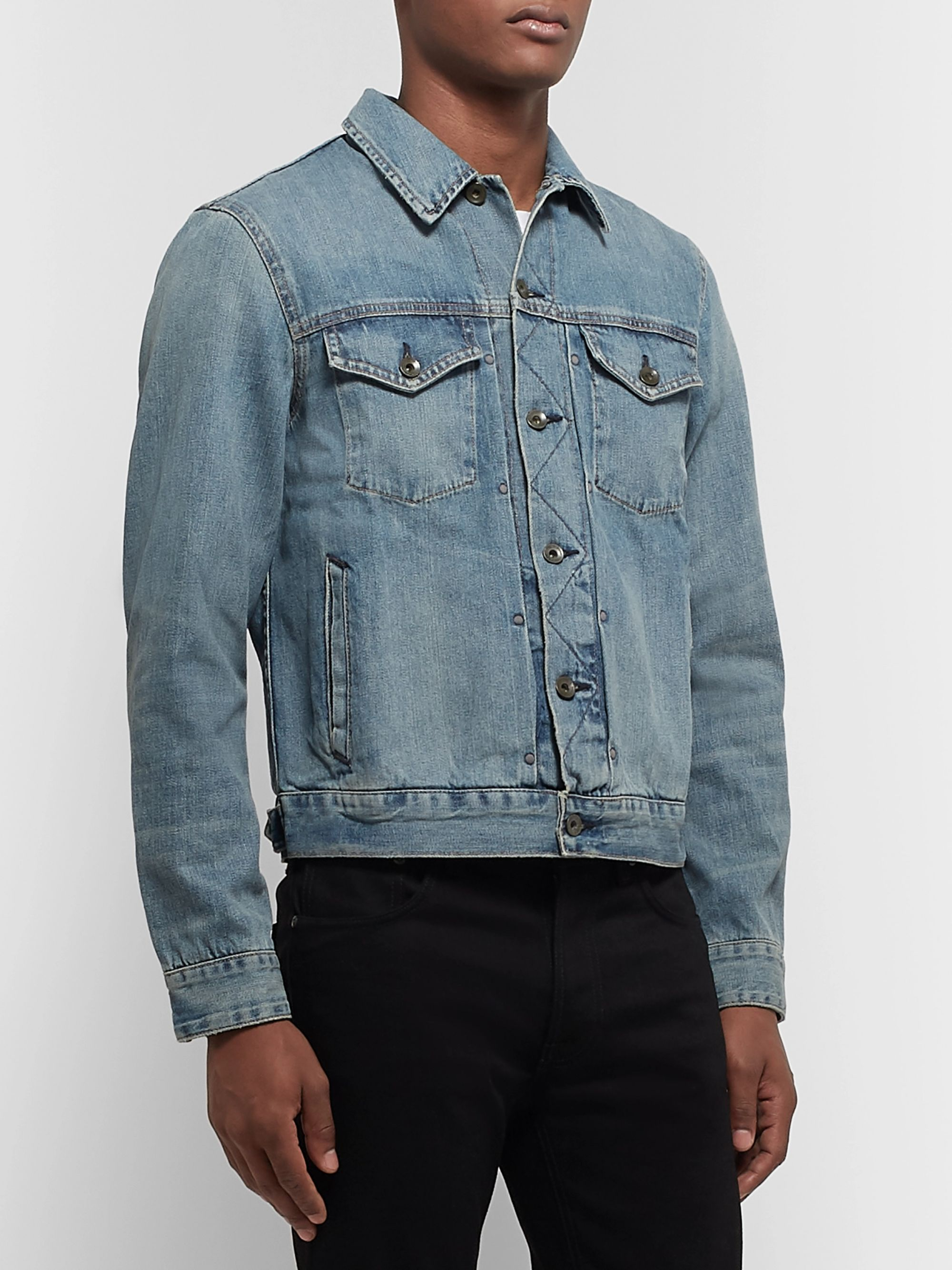 rag & bone Definitive Embroidered Selvedge Denim Jacket