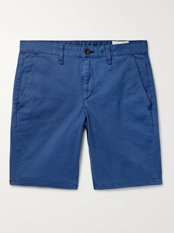rag & bone Classic Slim-Fit Cotton-Blend Twill Chino Shorts