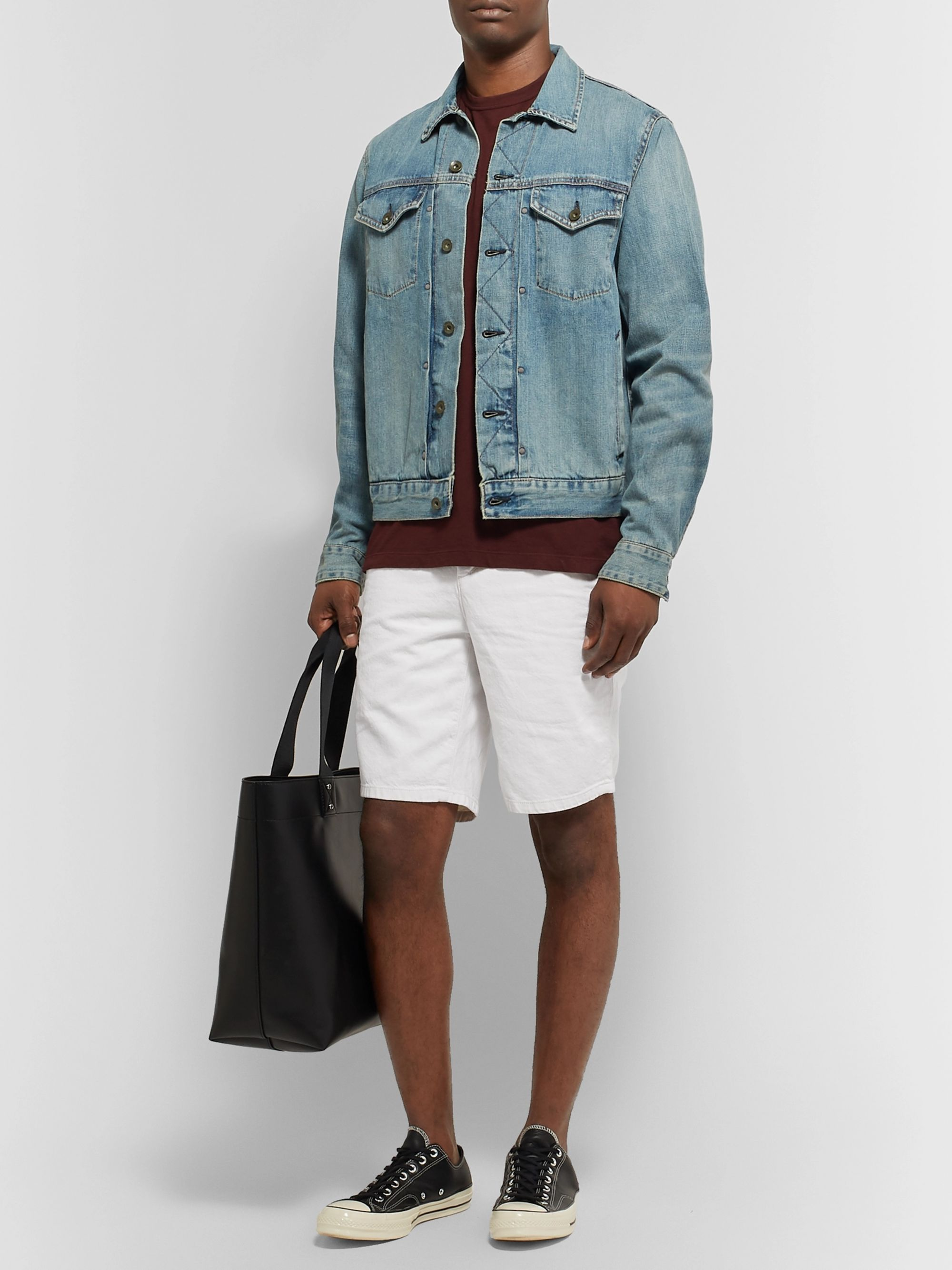 rag & bone Slim-Fit Cotton and Linen-Blend Chino Shorts