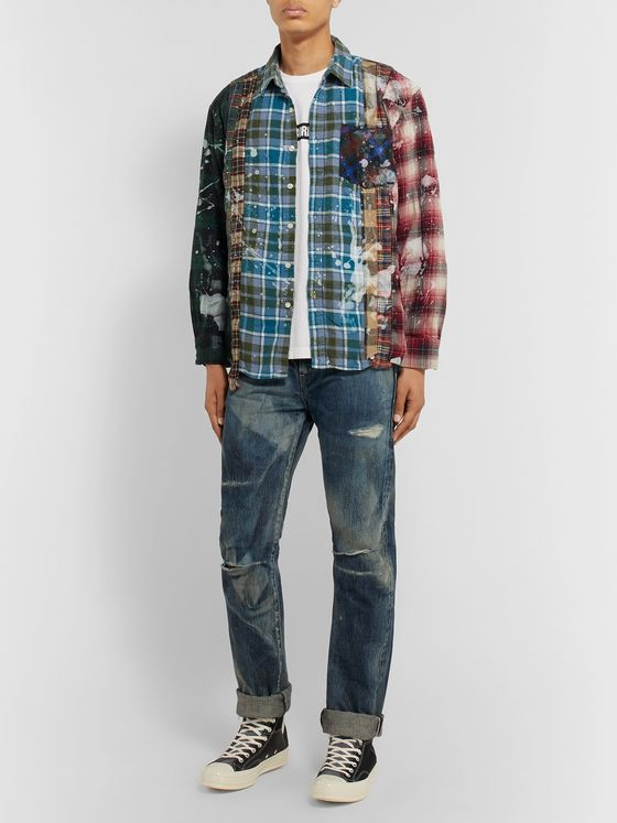 Neighborhood Distressed Selvedge Denim Jeans