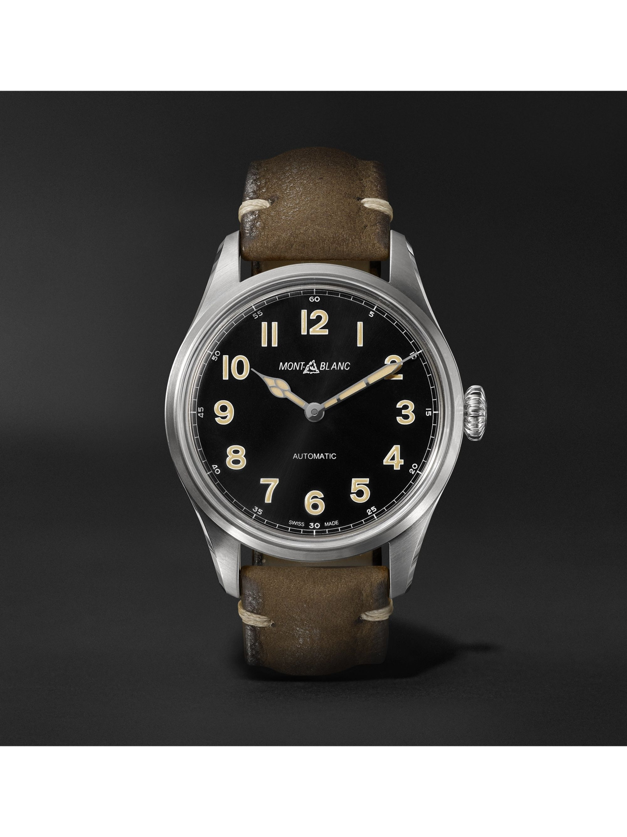 Montblanc 1858 Geosphere Limited Edition Automatic 40mm Stainless Steel and Nubuck Watch, Ref. No. 119907