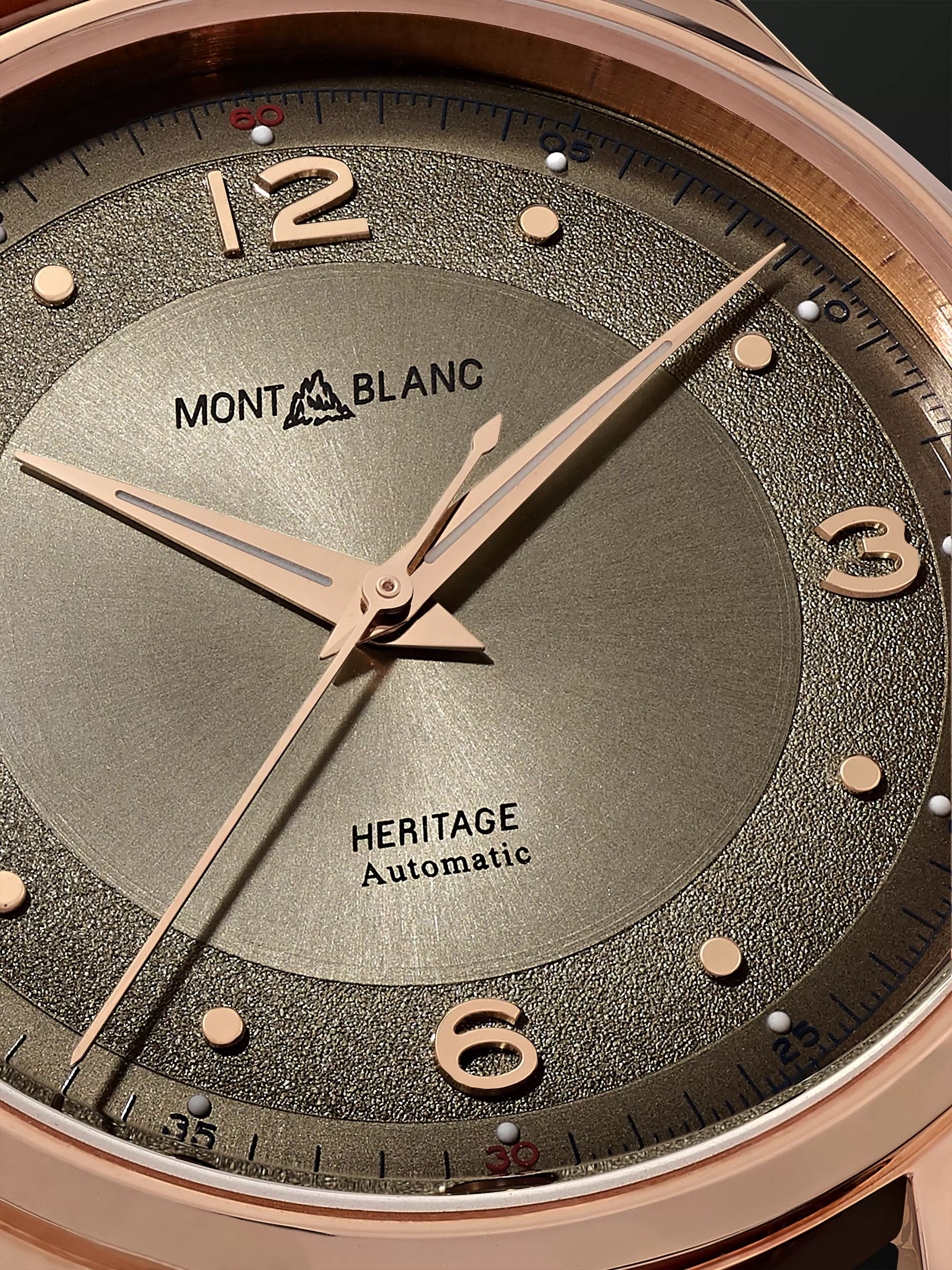 Montblanc Heritage Automatic 40mm 18-Karat Rose Gold and Alligator Watch, Ref. No. 119946