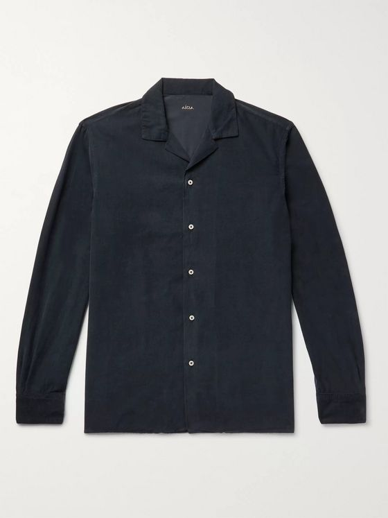 Altea Baker Camp-Collar Cotton-Corduroy Shirt