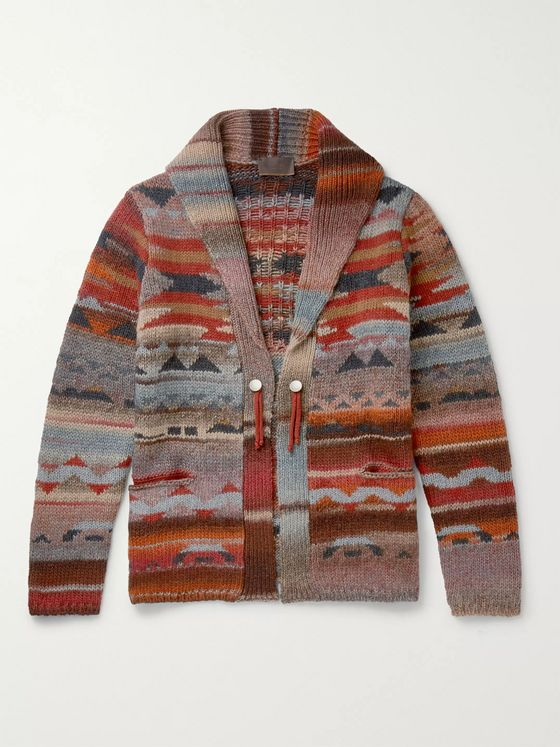 Altea Virgin Wool-Blend Jacquard Cardigan