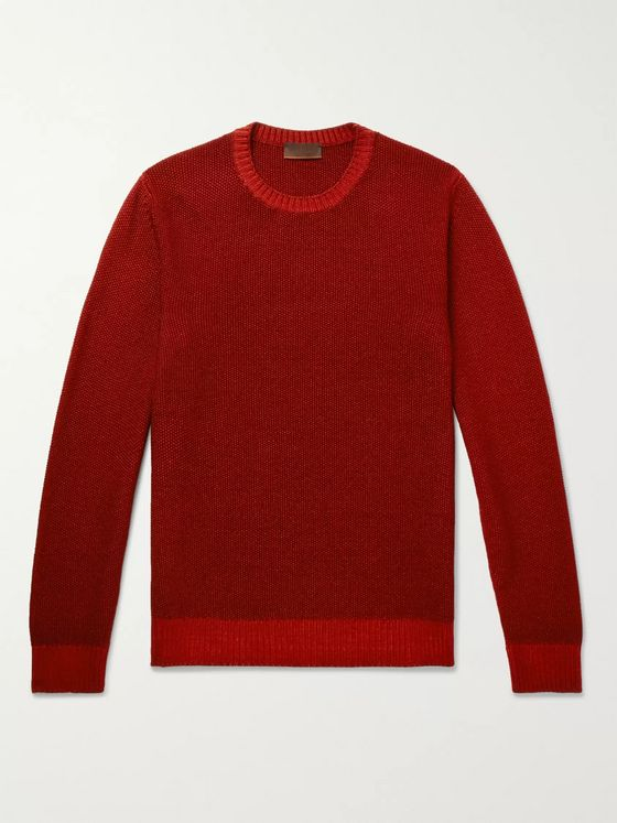 Altea Waffle-Knit Virgin Wool Sweater