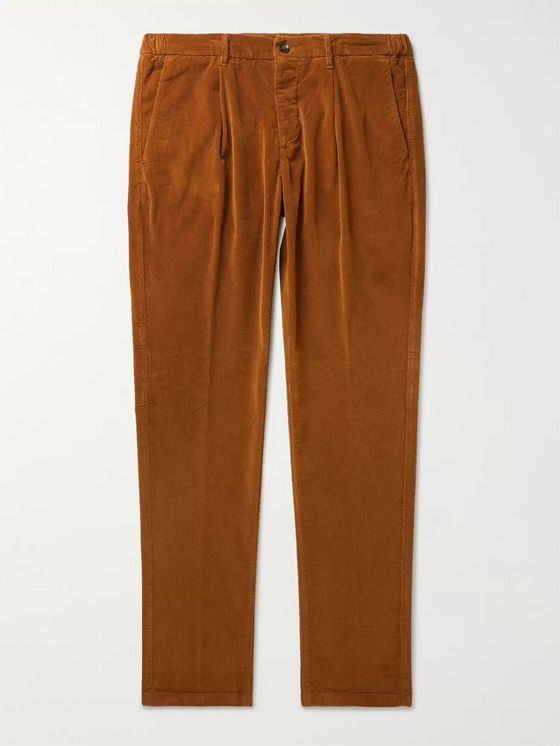 Altea Tapered Cotton-Blend Corduroy Drawstring Trousers