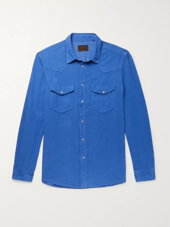 Altea Houston Cotton-Corduroy Western Shirt