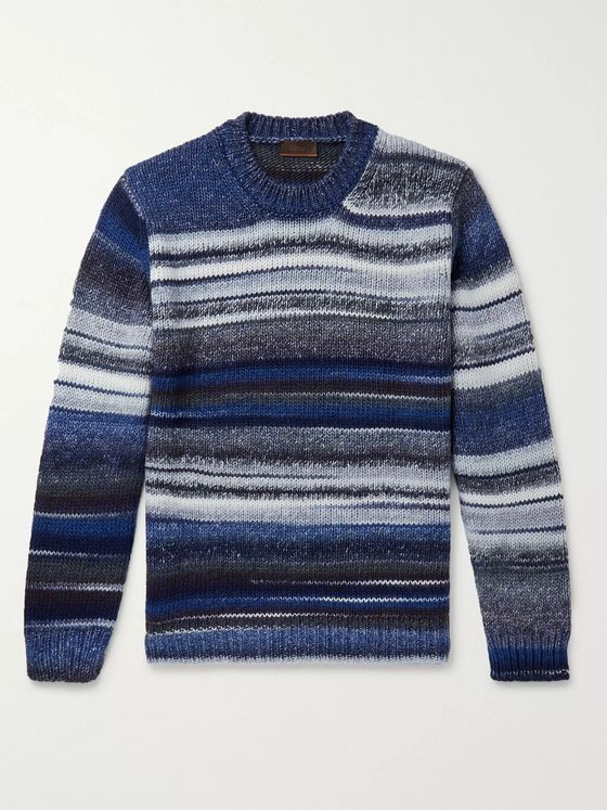 Altea Striped Virgin Wool-Blend Sweater