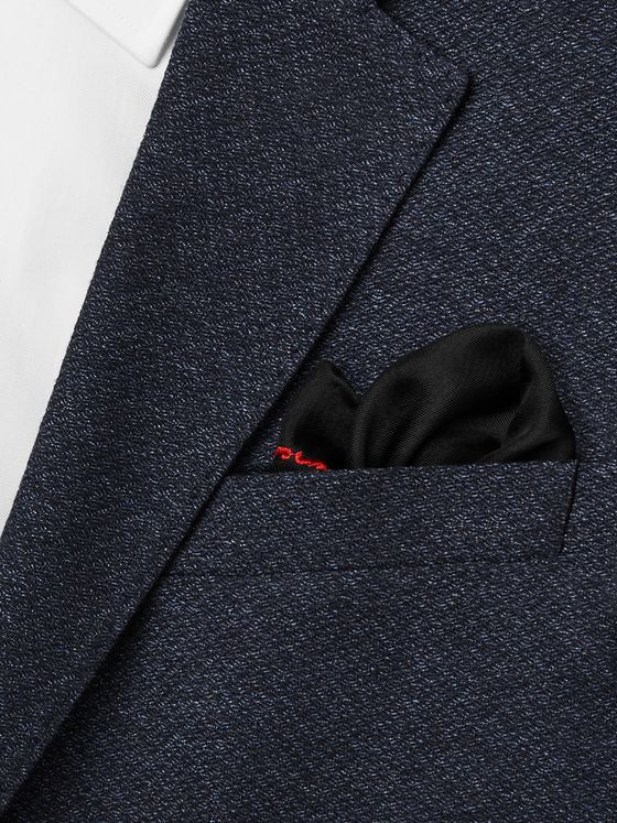 Givenchy Logo-Embroidered Silk Pocket Square